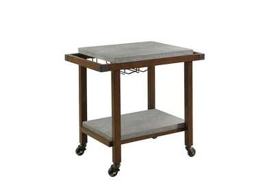 Chestnut Serving Cart