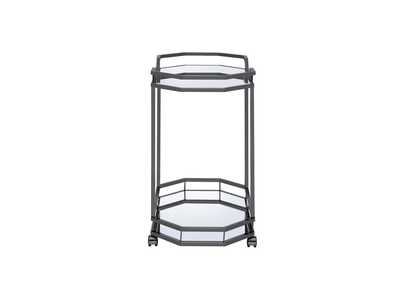 Black Nickel Serving Cart,Coaster Furniture