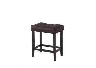 Espresso Counter Height Stool (Set of 2)