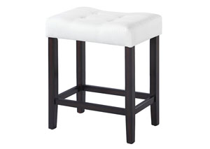 White/Espresso Counter Height Stool