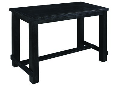 Wire Brushed Black Bar Table
