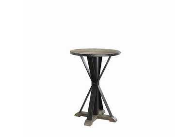 Driftwood & Weathered Gunmetal Bar Table