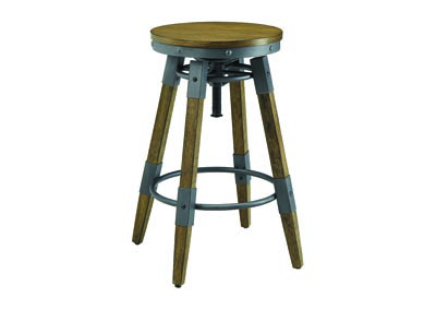 Hornell Rustic Adjustable Bar Stool (Set of 2)