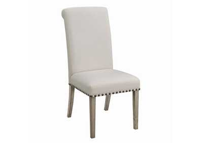 Taylor Beige Upholstered Parson Dining Chair (Set of 2)