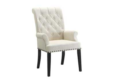 Image for Westar Parkins Cream Upholstered Dining Arm Chair