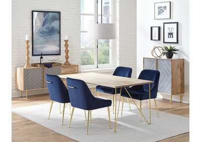 Image for Pennington Mango & Dark Ink 5 Piece Dining Set