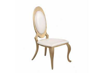Kendall Ivory/Gold Upholstered Dining Chair (Set of 2)