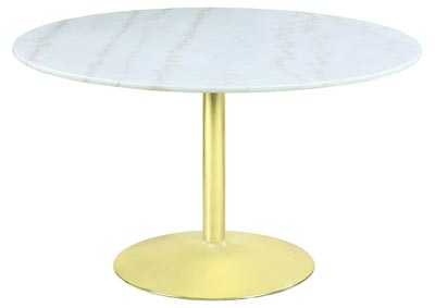 White and Gold Dining Table