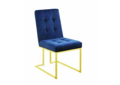 Ink Blue and Gold Dining Chair (Set of 2)