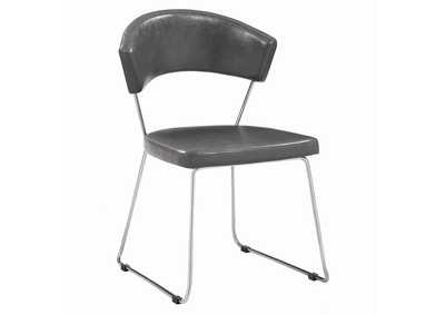 Healy Grey and Chrome Side Chair (Set of 4)