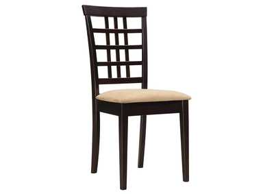 Image for Licorice Kelso Casual Peat and Cappuccino Side Dining Chair [Set of 2]