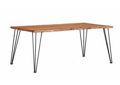 Image for Chocolate Industrial Natural Acacia Dining Table