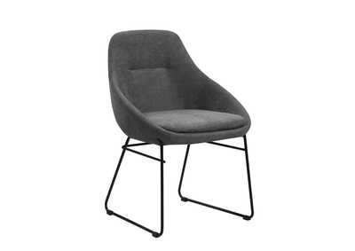 Image for Grey Upholstered Dining Chair