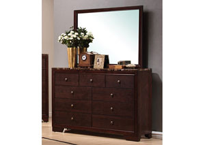 Conner Walnut Dresser w/Mirror