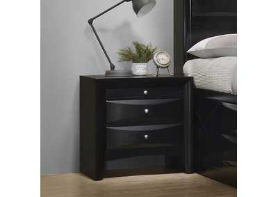 Briana Black Nightstand,Coaster Furniture