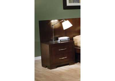 Jessica Cappuccino Back Panel Nightstand (Pair)