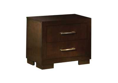 Image for Cappuccino Jessica Cappuccino Two-Drawer Nightstand