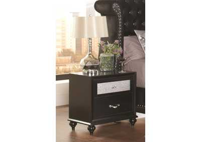 Image for Cod Gray Barzini Two-Drawer Nightstand W/ Metallic Drawer Front
