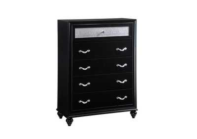 Image for Cod Gray Barzini Five-Drawer Chest W/ Metallic Drawer Front