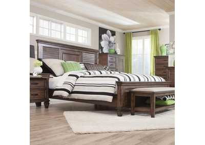 Franco Burnished Oak Califonia King Bed,Coaster Furniture