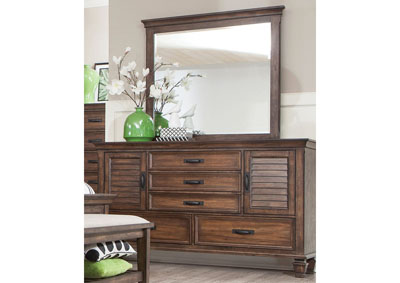 Franco Burnished Oak Dresser,Coaster Furniture