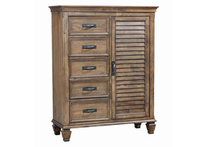 Franco Burnished Oak Man's Chest
