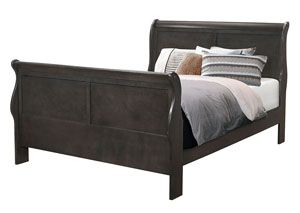 Dark Grey Queen Bed