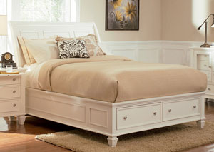 Sandy Beach White California King Bed