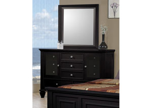 Sandy Beach Black Dresser w/Mirror