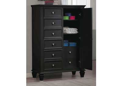 Sandy Beach Black Door Chest