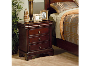 Versailles Three-Drawer Nightstand