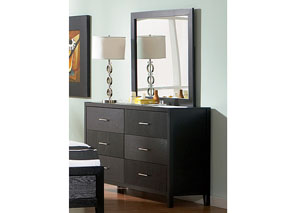 Grove Black Dresser w/Mirror
