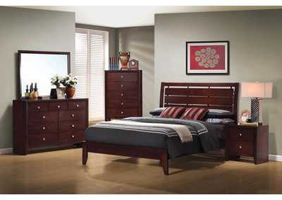 Serenity Merlot Eastern King Bed