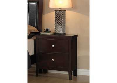 Solid Wood & Veneer Nightstand