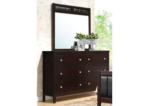 Solid Wood & Veneer Dresser & Mirror