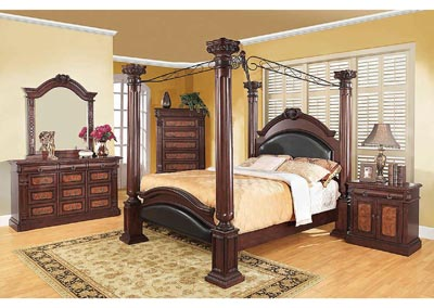 Grand Prado Black & Cherry California King Bed