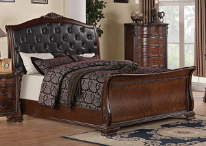 Maddison Black & Brown Cherry Queen Bed