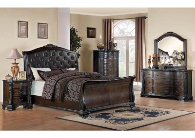 Maddison Black & Brown Cherry California King Bed