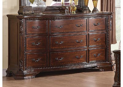 Maddison Brown Cherry Dresser