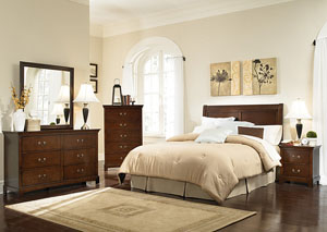 Tatiana Espresso Queen /Full Headboard, Dresser, Mirror & Nightstand