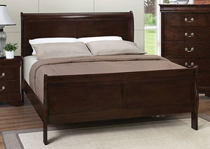 Louis Philippe Cappuccino Queen Bed