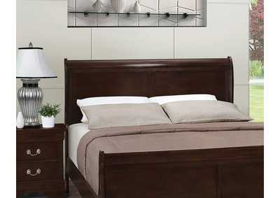 Louis Philippe Cappuccino Full Sleigh Headboard