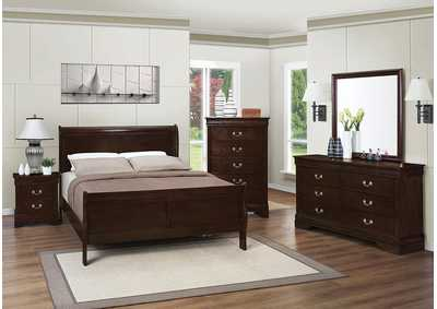 Louis Philippe Cappuccino King Bed