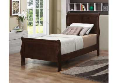Louis Philippe Cappuccino Twin Bed