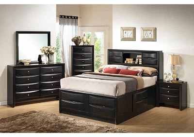 Briana Black Queen Storage Bed