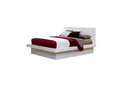 Image for Jessica Contemporary White Queen Bed