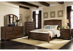 Laughton Queen Bed w/Dresser, Mirror, Chest & Nightstand