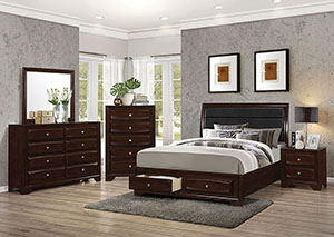 Image for Brown & Cappuccino California Bed w/Dresser & Mirror