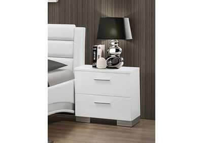 High Gloss White Night Stand