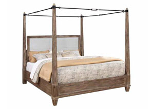 Smokey Acacia Queen Bed